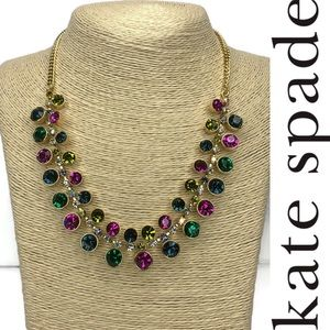 Kate Spade ♠️ Multicolored Gem 💎 Necklace NWT